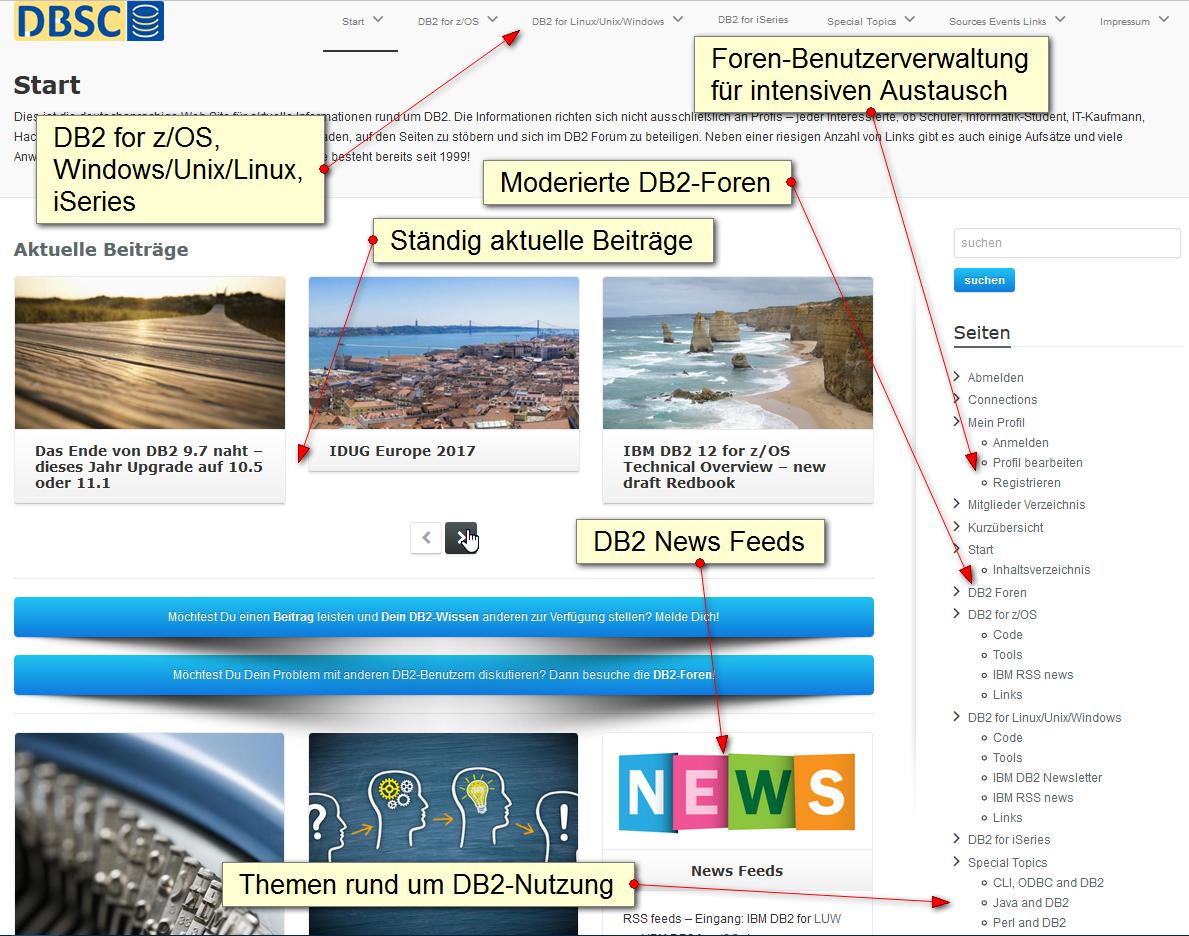 DB2 Web Site